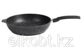 Сковорода 24/60 (темный мрамор)со съемной ручкой с крышкой