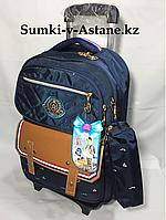 Школьный рюкзак на колесах  с 1-го по 4-й класс, шагающий. Высота 48 см, ширина 30 см, глубина 18 см., фото 1