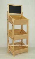 Рекламное оборудование овощные стеллажи витрина стенды для магазина деревянные стеллажи