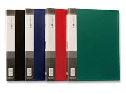 Папка с 10 файлами, синяя, А4, пластик, 0.45мм