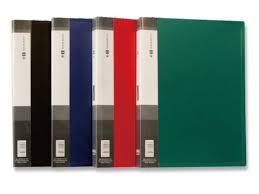 Папка с 10 файлами, чёрная, А4, пластик, 0.35мм