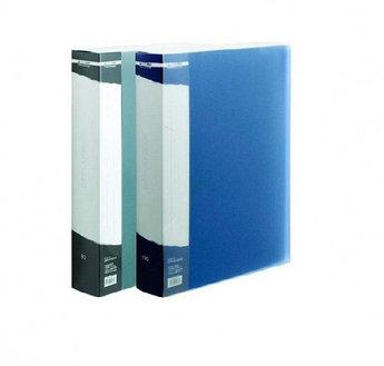 Папка с 100 файлами, синяя, А4, пластик, 1.05мм