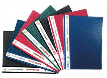 Папка с 20 файлами, серая(синяя, черная), А4, пластик, 0.45мм