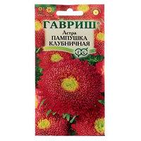 Семена цветов Астра Пампушка клубничная, помпонная, О, 0,3 г (комплект из 10 шт.)