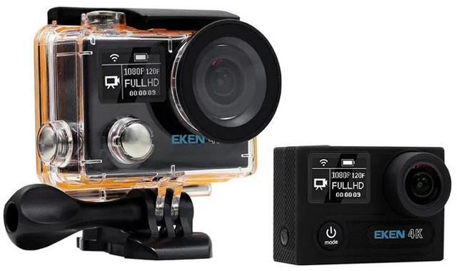 """Бюджетная экшн-камера 4К и Wi-Fi """"EKEN H8 Ultra HD 4K"""" позволит Вам записывать высококачественное видео в любых условиях эксплуатации"""