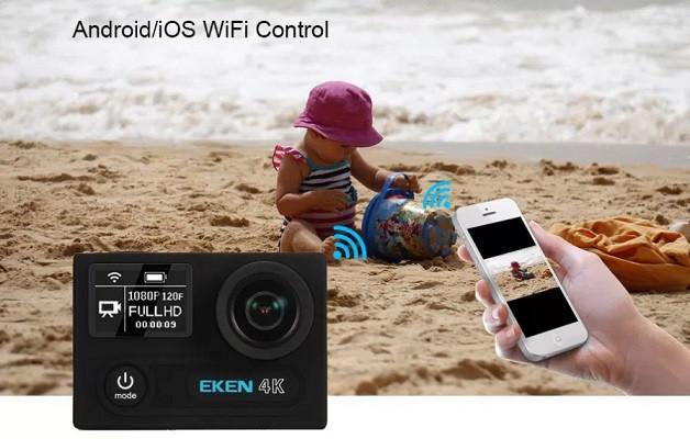 Благодаря встроенному Wi-Fi-модулю Вы сможете управлять камерой со своего смартфона или планшета