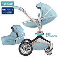 НОВИНКА! Коляска 2в1 F023 Blue 360 (Hot Mom, Китай), фото 1