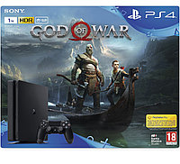 PlayStation 4 SLIM! 1 TB +Игра God of War 4, фото 1