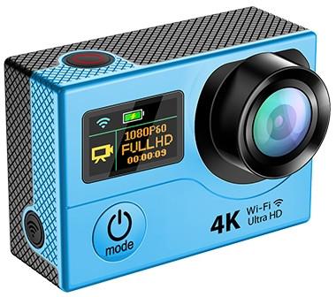 Дополнительный мини-дисплей расположен на лицевой стороне экшн-камеры, возле объектива