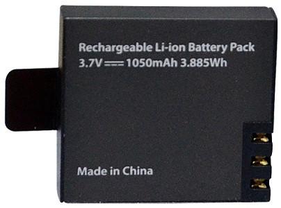 Емкий литий-ионный аккумулятор позволяет вести видеосъемку без подзарядки до 90 минут