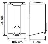Дозатор (диспенсер) Vialli для жидкого мыла 1000 мл.Черный цвет. Мыльница., фото 2