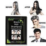 Красящий шампунь для седых волос Dexe Black Hair Shampoo, фото 3
