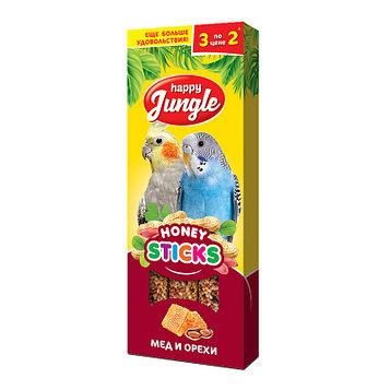 Happy Jungle Медовые палочки для попугаев Мёд и орехи