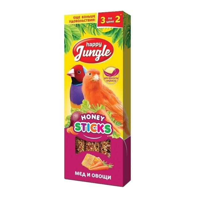 Happy Jungle Медовые палочки для попугаев Мёд и овощи
