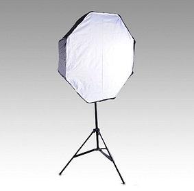 Студийный зонт - октобокс 80 см на стойке с головкой для вспышки