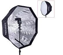 Студийный зонт - октобокс 80 см на стойке с головкой для вспышки, фото 2