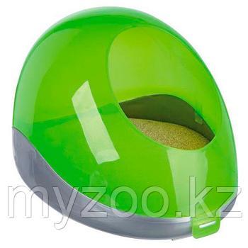 Пластиковая купальня для песка, помогает в уходе за когтями и телом животного,Р-р 27 × 18 × 16 cm
