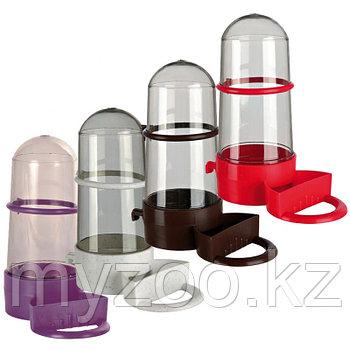 Дозатор для птиц, под еду и питьё, размер 15см, объем 265мл. 4 цвета
