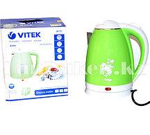 Электрочайник Vitek 2.2 л зеленый с принтом цветов B38A