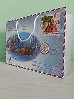Пакет новогодний 35*25*11см
