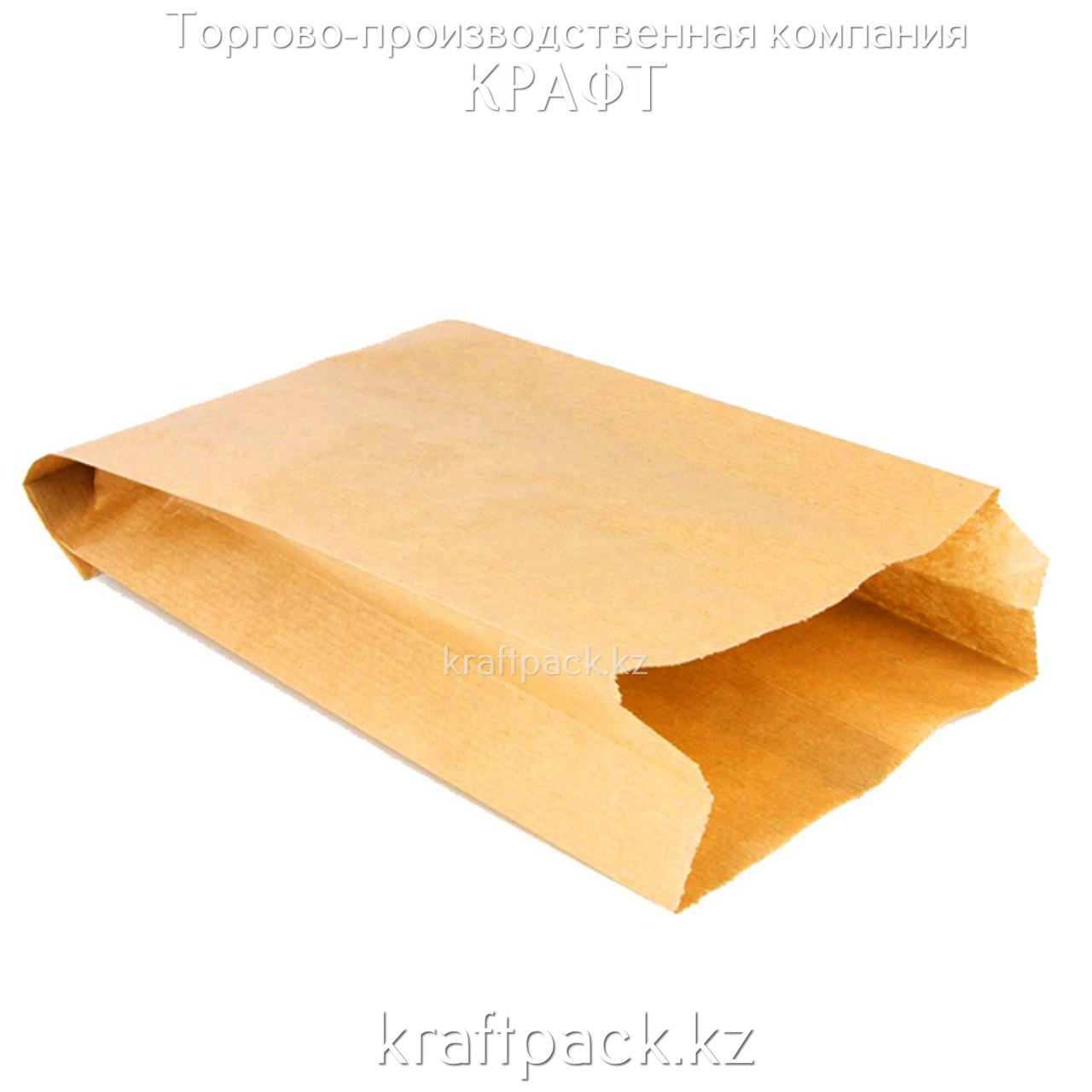Пакет крафт с плоским дном 250*100*390 (1500шт/уп)