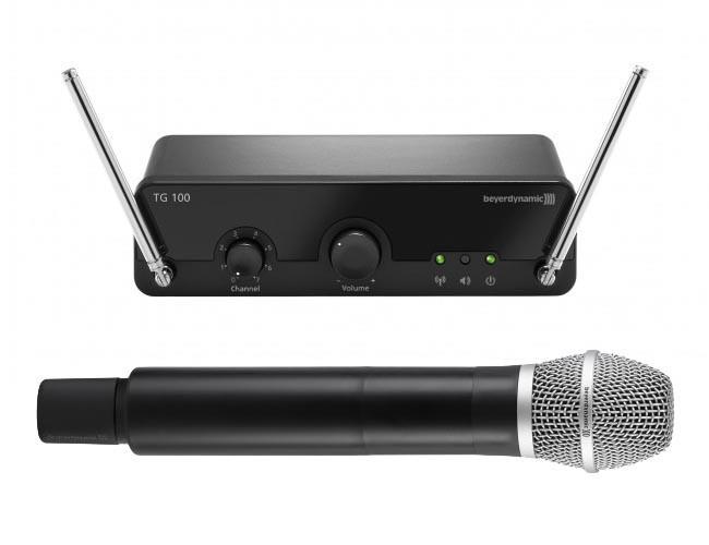 BEYERDYNAMIC TG 100 H-Set 213-223 MHz вокальная истинно диверситивная радиосистема диапазона VHF