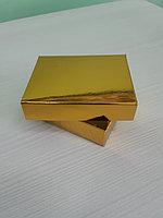 Коробка крышка+дно 9,5*7,5*2,5см золото