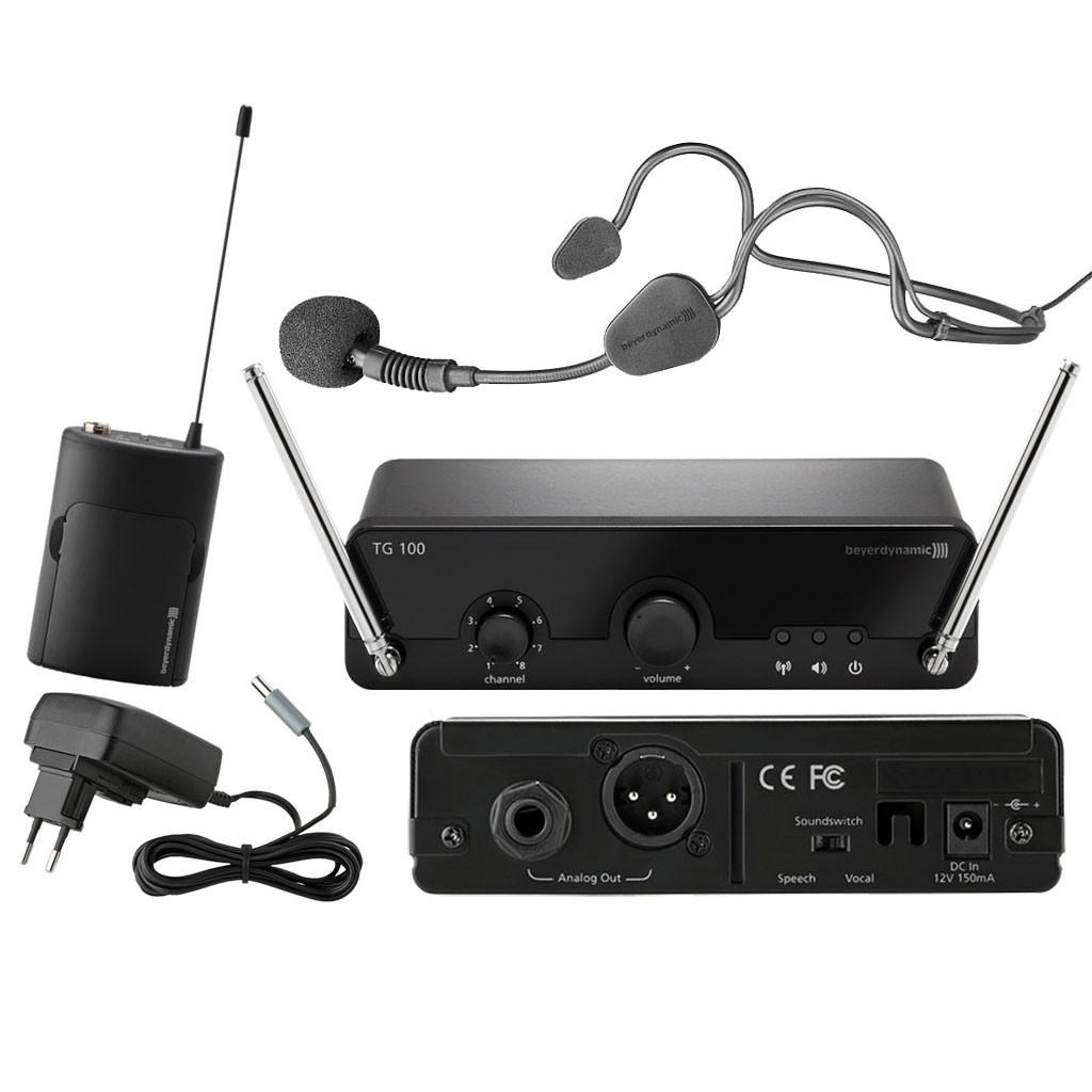 BEYERDYNAMIC TG 100 B-Set 213-223 MHz вокальная истинно диверситивная радиосистема диапазона VHF