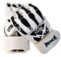 Перчатки MMA (шингарты) принт скелет черно-белые