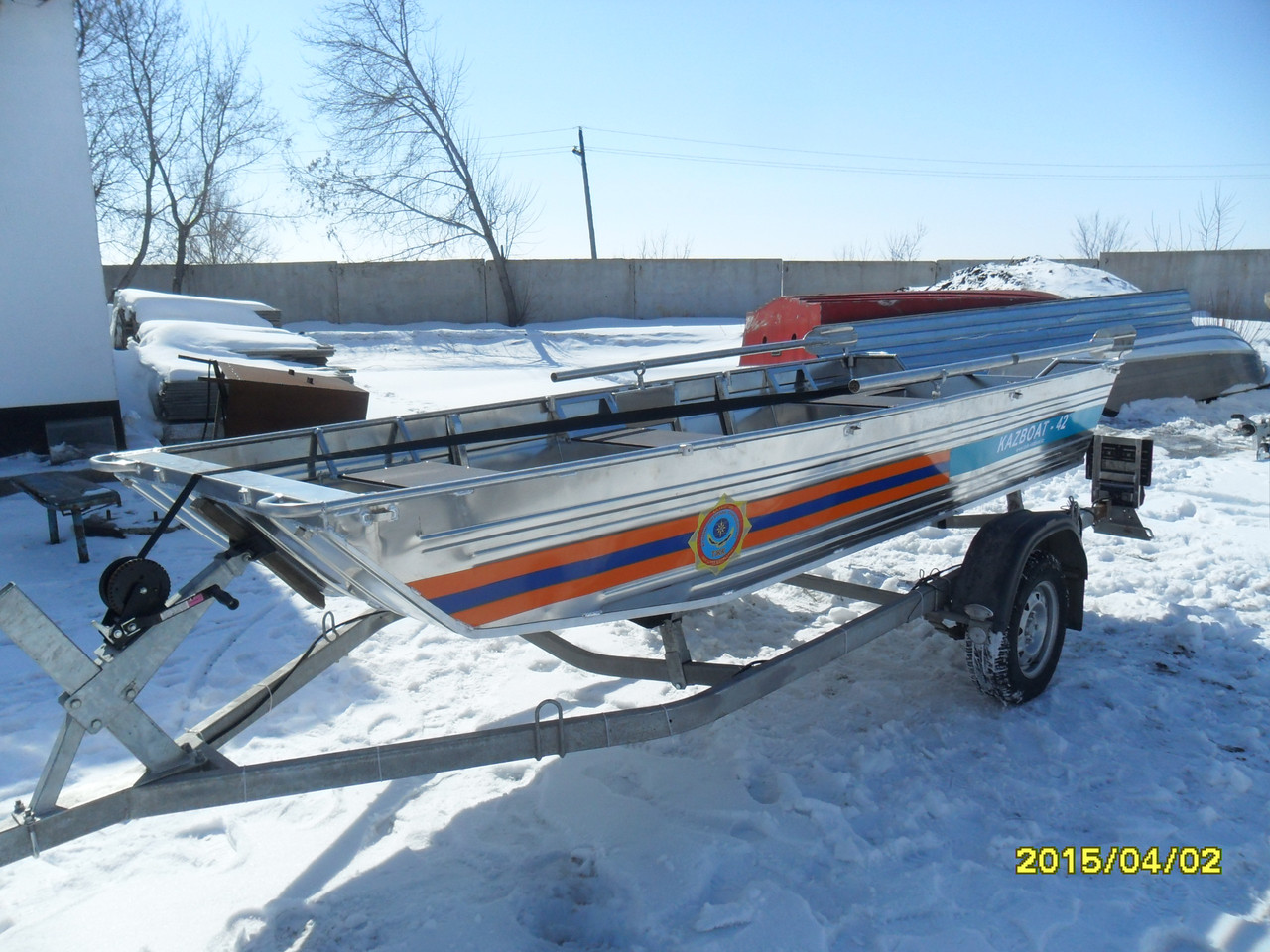 Гребная - моторная лодка Kazboat - 42 п