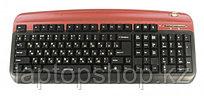 Клавиатура проводная Oklick 300M red (PS/2+SB)+USB порт