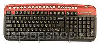 Клавиатура проводная Oklick 320M red mmedia (PS/2+SB)+USB порт
