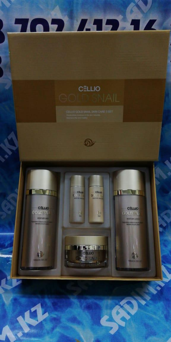 Cellio Gold Snail moisture Skin Care 3Set - Набор для ухода за кожей