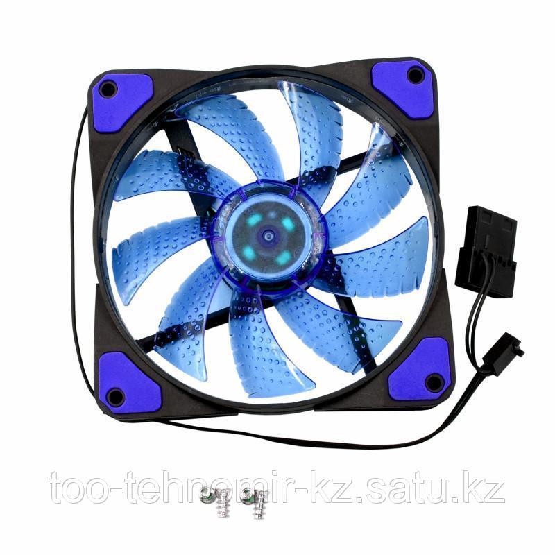 Вентилятор для системного блока 12cm YaKoo FY-D125, 15-светодиод, синий