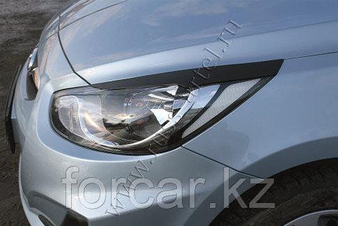 Накладки на передние фары (реснички) Hyundai Solaris седан 2010-2014, фото 2