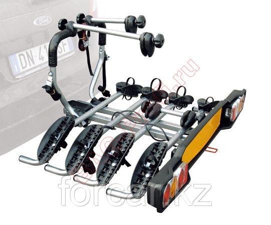 Багажник для перевозки 4-х велосипедов на фаркопе Peruzzo Siena откидной