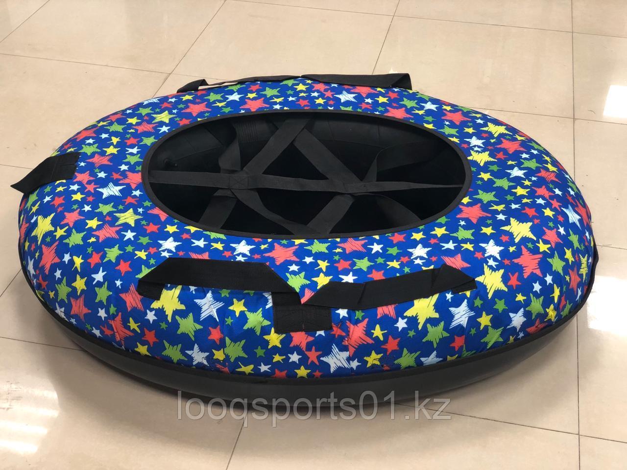 Тюбинг с пластиковым дном (круг) ватрушка надувной для катания 120 см