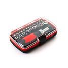 CREST C503 Набор отверток 38 ед., 45-50 HRC, 28 Бит, 9 Метрических головок, Чёрно-Красный, Цветная коробка