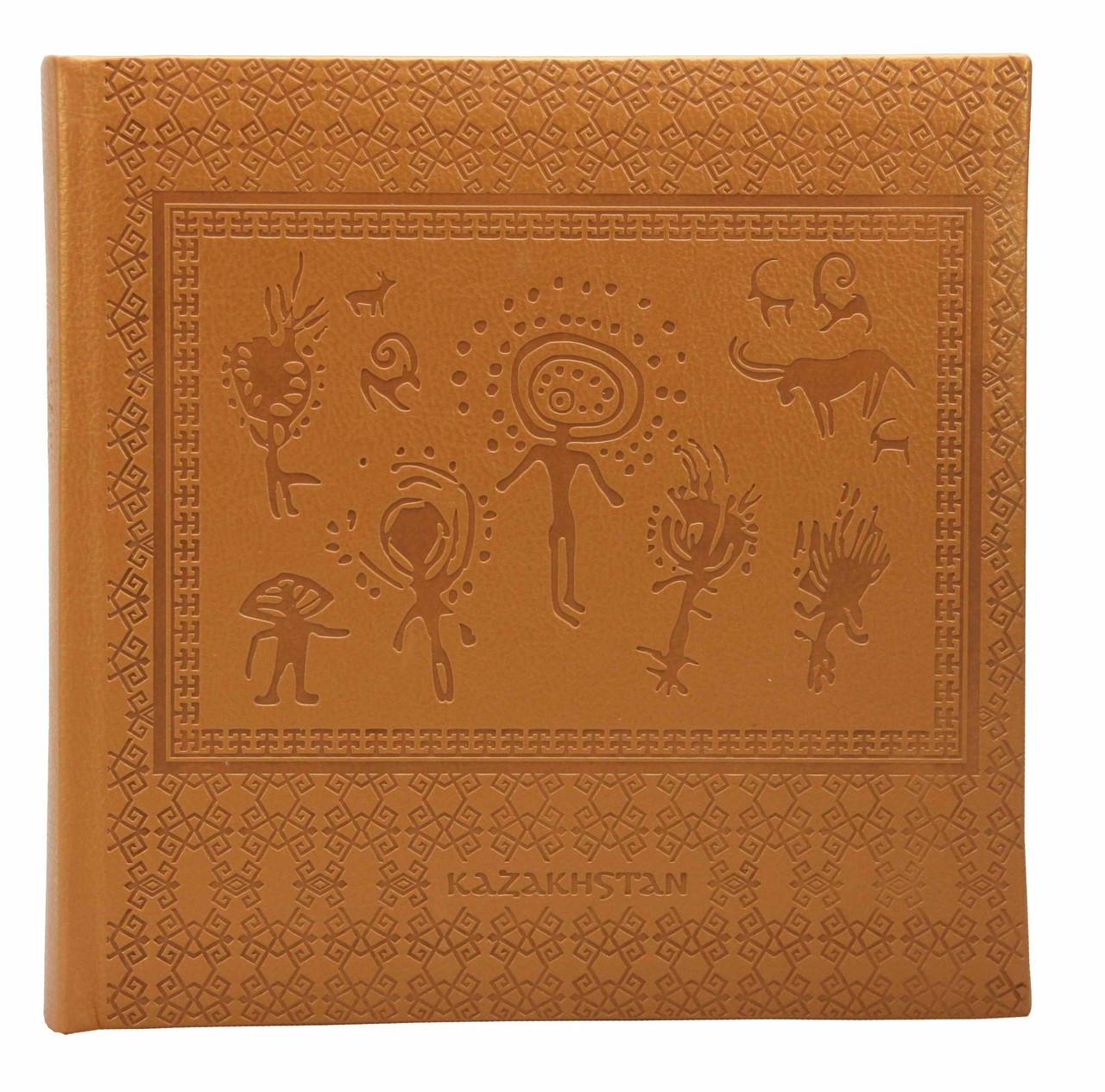 Фотоальбом, обложка PU, упаковка - коричневый винил