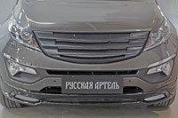 Решетка радиатора Вариант 3 с сеткой металлик  KIA Sportage 2014-, фото 2