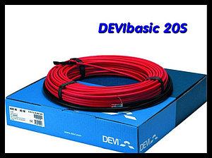 Одножильный нагревательный кабель DEVIbasic 20S - 14м