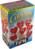 Леденец Смайл- сердце с клубничным вкусом FINI (170шт в упак)