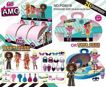 PG8018 Маленькие куклы +20 аксессуаров в сумочке, 3шт в уп. Цена за 1шт