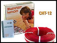 Двужильный тонкий нагревательный кабель СНТ-12 - 82м