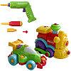 Конструктор Build and Play 2 в 1. машинка и паровозик + инструменты
