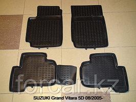 Коврики в салон SUZUKI Grand Vitara 5D, 2005->, 4 шт. (полиуретан)