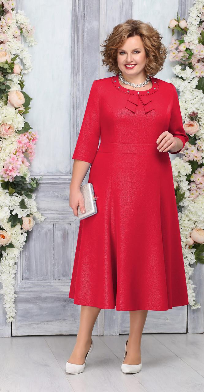 Платье Ninele-2233/1, красный, 56