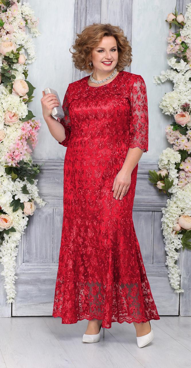 Платье Ninele-2234, красный, 54