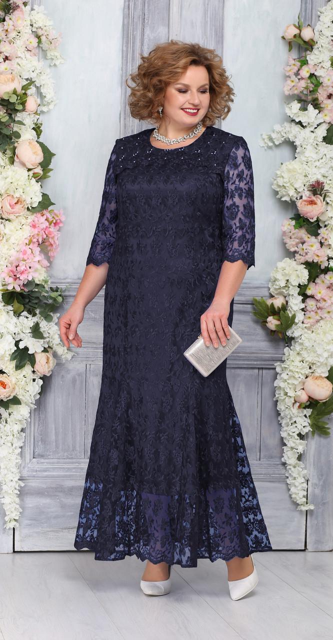 Платье Ninele-2234/1, темно-синий, 54