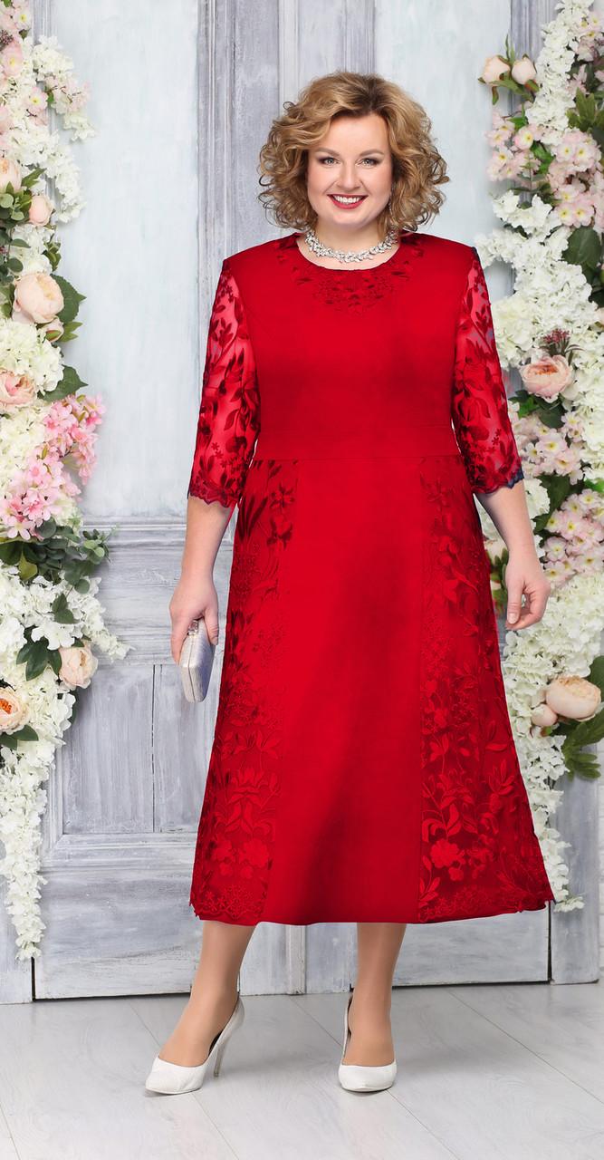 Платье Ninele-2235/1, красный, 54